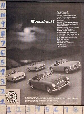 1961 Mg British Bmc Sports Sprite Austin Healey Car Auto Motor Vintage Ad Za81