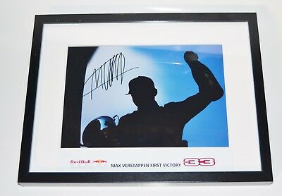 Max Verstappen > First Victory - signed / framed (30/40cm)