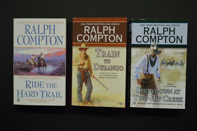 Job Lot Of Ralph Compton Western Paperback Books (X3)