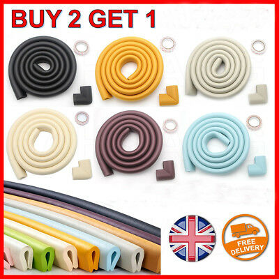 4 U Corner / 2M Edge Protector Cushion Guard Baby Safety Soft Foam Glass Table