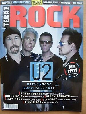 U2/Bono on front cover Polish Magazine TERAZ ROCK 12/2017 in.Tom Petty 12 pages
