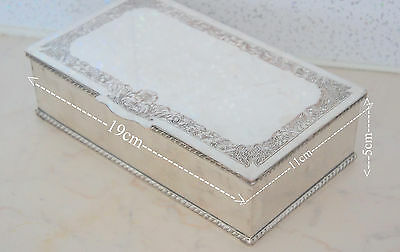 vintage silver plated jewelry box