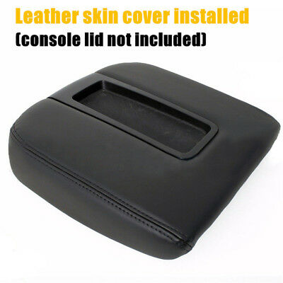 Console Lid Armrest Cover PU Leather For 07-13 Chevy Tahoe Suburban Yukon Sierra