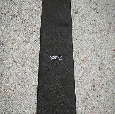 Vintage 1970's Norton Motorcycle neck tie - brown - Alec Brook, London