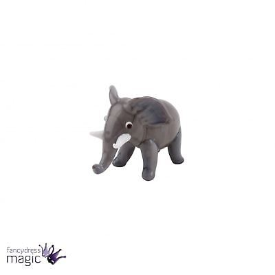Artisan Glass Small Cute Grey Elephant Home Gift Ornament Figurine Decoration