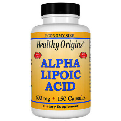 Healthy Origins Alpha Lipoic Acid, ALA - 600mg x 150 Capsules