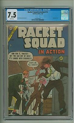 Racket Squad in Action 14 (CGC 7.5) White pg; 2nd highest graded copy! (c#12821)