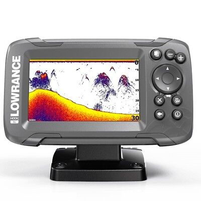 Lowrance HOOK2-4X Fishfinder with Transom Mount Transducer