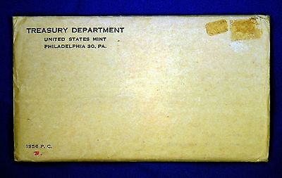1956 U.S. PROOF SET. The envelope containing the set is sealed/ unopened