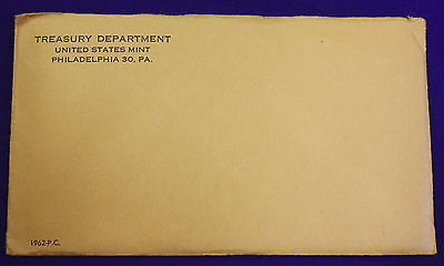 1962 U. S. PROOF SET.  The Coins are U.S. Mint Sealed in a flat cello.