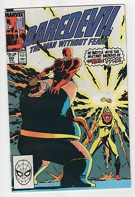 Marvel Comics Daredevil The Man Without Fear #269 Blob & Pyro App Copper Age