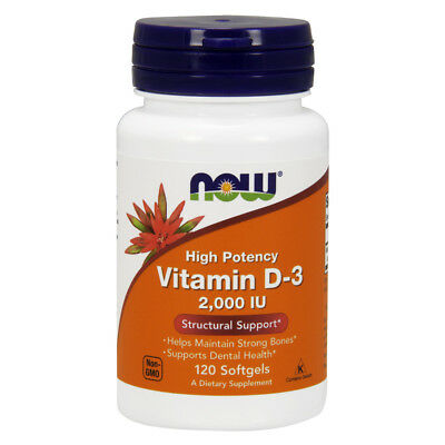NOW FOODS Vitamin D-3 2000 IU 120 softgels - VITAMINE
