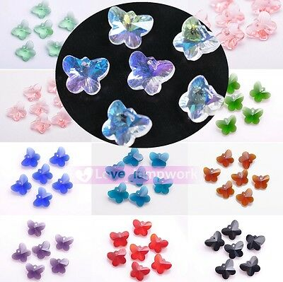 Wholesale Lot Faceted Glass Crytal Butterfly Pattern Spacer Finding Loose Beads