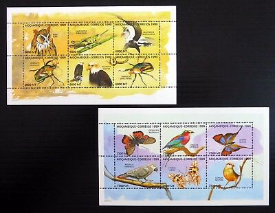 MOZAMBIQUE 1999 Birds & Insects Sheetlets (2) U/M NC1