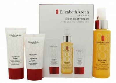 Elizabeth Arden Eight Hour Cream Gift Set 100Ml All Over Miracle Oil + 30Ml Hand