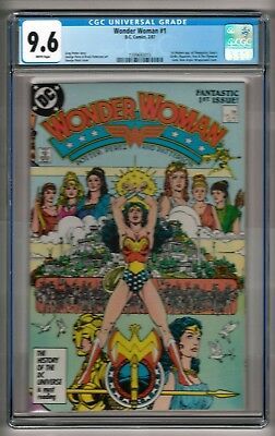 Wonder Woman #1 (1987) CGC 9.6 White Pages  Perez  1st Modern Themyscira