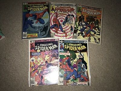 Marvel Comic The Amazing Spider-Man Issue 200 201 202 203 204 Vgc
