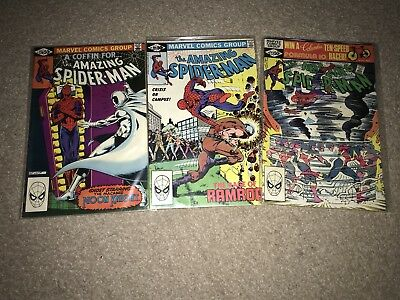 Marvel Comic The Amazing Spider-Man Issue 220 221 222 Vgc