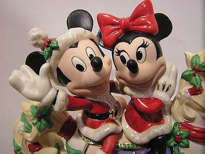 LENOX MINNIE & MICKEY'S CHRISTMAS CAROUSEL Horse NEW in BOX withCOA Disney Mouse