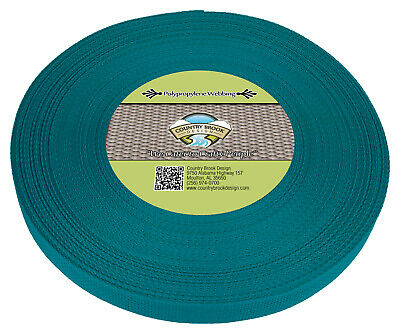 Country Brook Design® 1 Inch Turquoise Polypro Webbing, 25 Yards