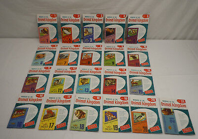 21 Vintage Wonders Of The Animal Kingdom Picture Stamp Packets Complete Set