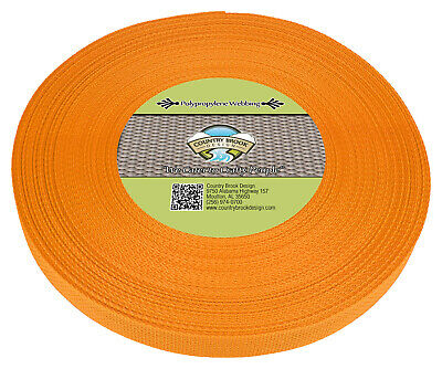 Country Brook Design® 1 Inch Gold Polypro Webbing, 25 Yards
