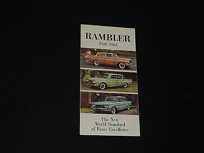 1961 RAMBLER Car Auto Dealer Brochure Catalog REBEL AMBASSADOR free shipping