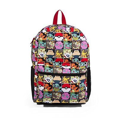 Pokemon Multi Character Check 16 Backpack New