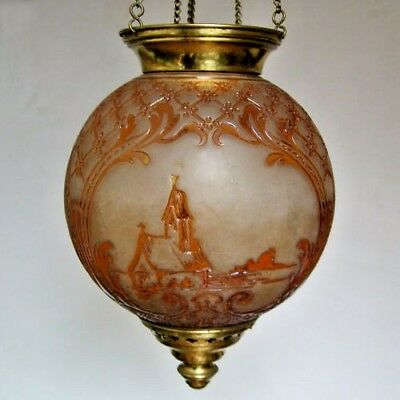 """AUTH. 19thc. """"BACCARAT"""" NAPOLEON III DOCUMENTED MMA / ELECTRIFIED HALL LAMP"""