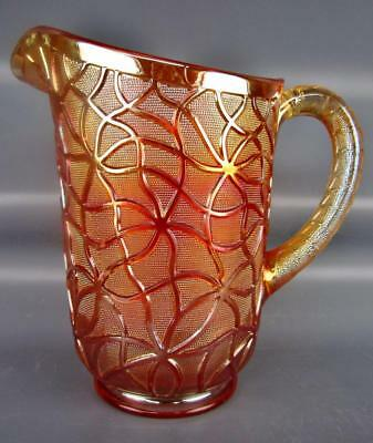 Carnival Glass - Imperial SODA GOLD Splendid Antique Dark Marigold Pitcher 4449