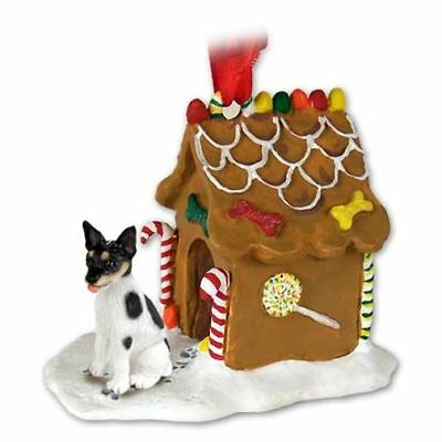 Rat Terrier Dog Ginger Bread House Christmas ORNAMENT