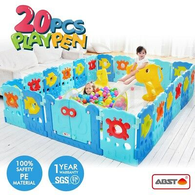 ABST 20 Sided Panel Baby Playpen Interactive Kids Toddler Safety Gate Baby Room