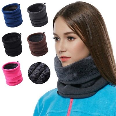 3 IN 1 Fleece Thick Neck Warmer Hat Scarf Scarves Balaclava Snood Winter Warm