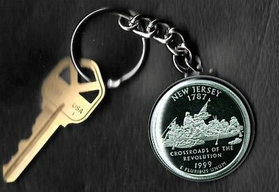 State of NEW MEXICO Quarter Keychain Key Chain Image is 60/% larger than quarter