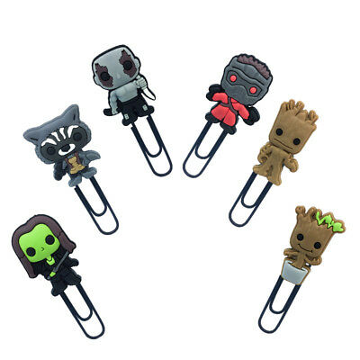 2pcs Guardians of the Galaxy  Paper Clip Bookmarks DIY Office School Clips Gift