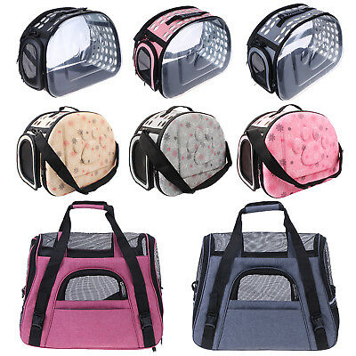 Foldable Pet Dog Cat Soft Totes Carrier Puppy Crate Travel Kennel Cage Handbag