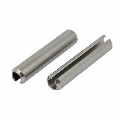 M10x55mm 304 Stainless Steel Split Spring Dowel Tension Roll Pin 2pcs