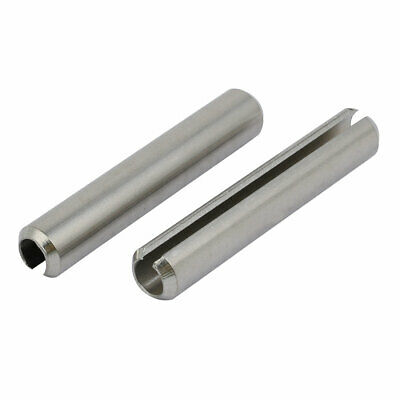 M10x60mm 304 Stainless Steel Split Spring Dowel Tension Roll Pin 2pcs