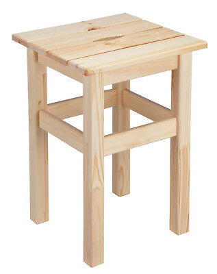 hocker holzhocker schemel holzschemel 30x30x45cm unbehandeltes massives holz neu eur 18 50. Black Bedroom Furniture Sets. Home Design Ideas