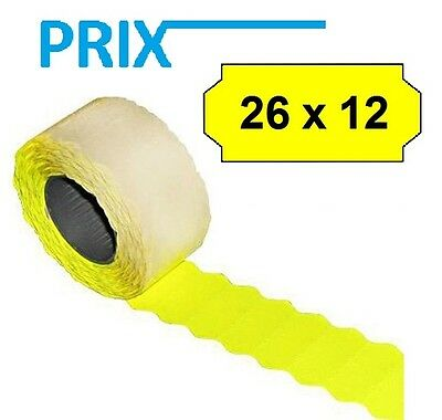 12.000 Pieces Prix Price Tags Tovel Mobile Phone Avery 26mm x 12mm in Yellow 8