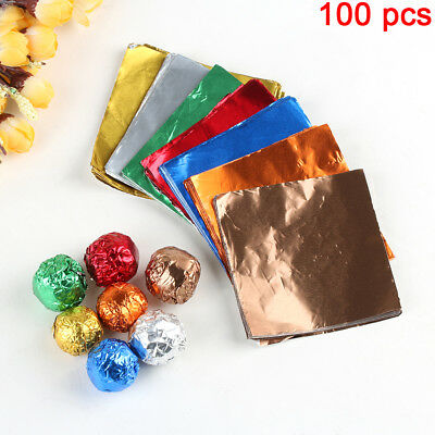 100 Pcs/lot Candy Lollypop Aluminum Foil Chocolate Wrappers Package Paper Baking