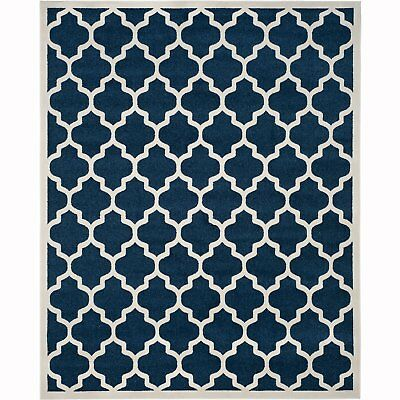 Safavieh Newport Collection Transitional 8 x 10 Foot Indoor Rug, Navy/Cream