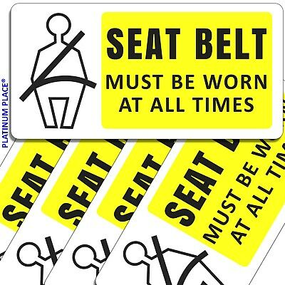 5 x Seat Belt Must Be Worn At All Times-Stickers-Car,Cab,Coach,Bus,Taxi Signs