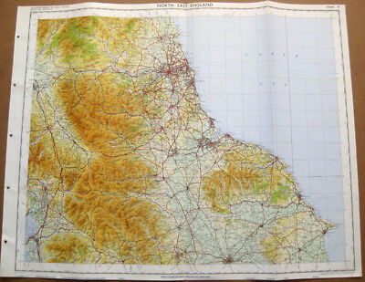 NORTH EAST ENGLAND Large Ordnance survey Map 1969 #9