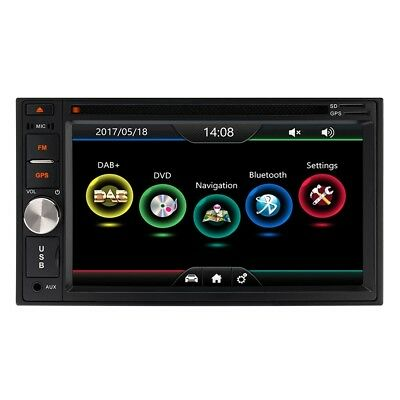 "6.2"" HD Double Din Car Stereo With Bluetooth DAB+ Radio DVD Player USB SD Aux"