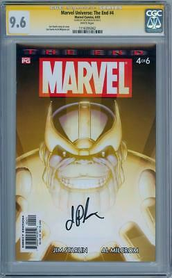 Marvel Universe The End #4 Cgc 9.6 Signature Series Signed Jim Starlin Thanos
