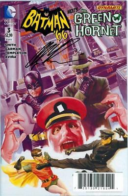 Batman '66 Meets The Green Hornet #3 Df Dynamic Forces Signed Alex Ross Coa