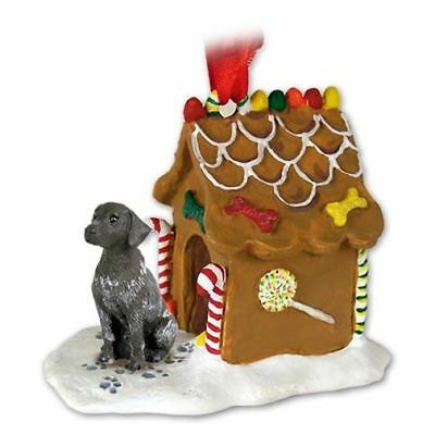 German Shorthaired Pointer Dog Ginger Bread House Christmas ORNAMENT