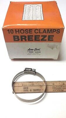 """#44 10 PC HOSE CLAMP 2-5//16/"""" TO 3-1//4/"""" ALL STAINLESS STEEL MARINE QUALITY"""