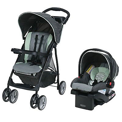Graco LiteRider Click Connect LX Stroller and Cart Seat Travel System, Landry